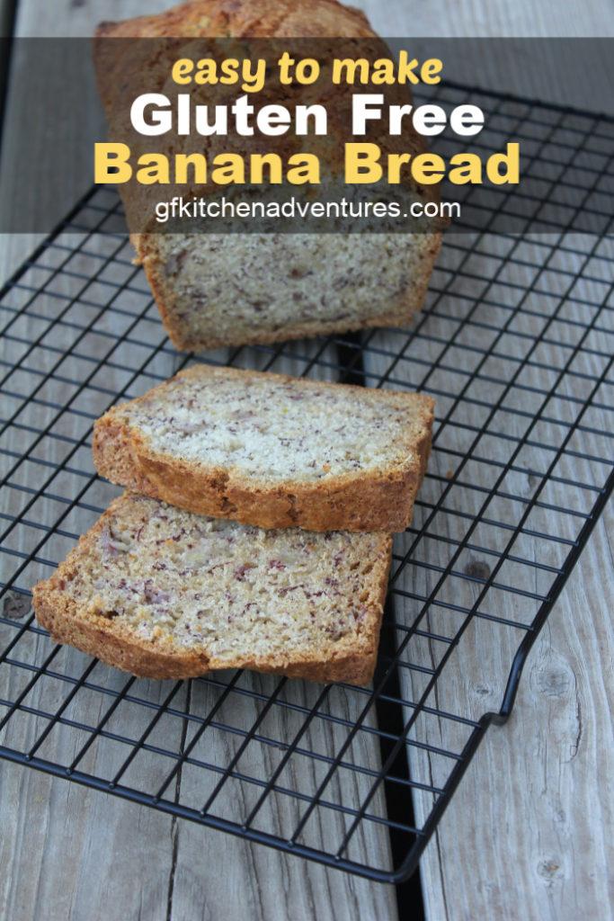 Gluten Free Dairy Free Banana Bread