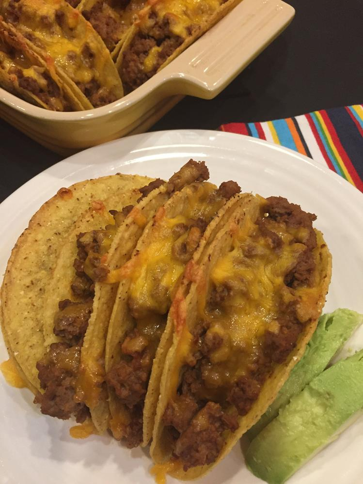 Oven Tacos with gluten free taco seasoning