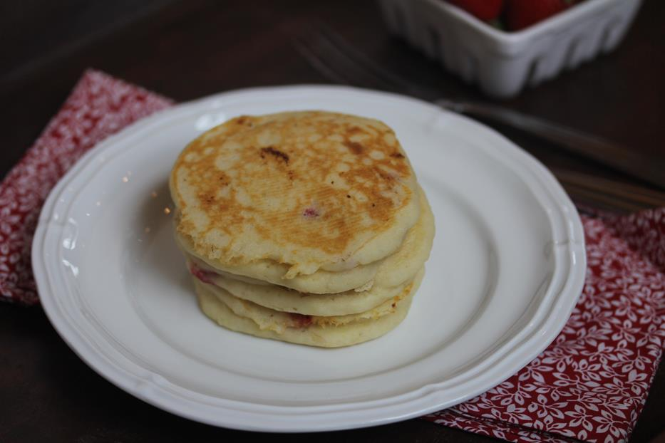 Gluten Free Strawberry Pancakes-