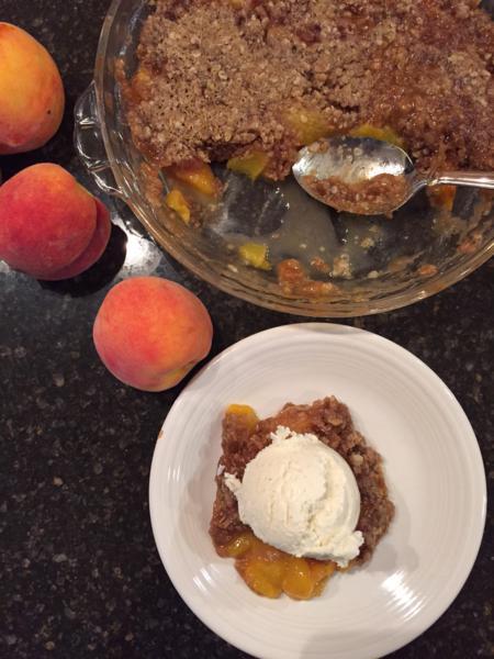 Gluten Free Micorwave Peach Cobbler