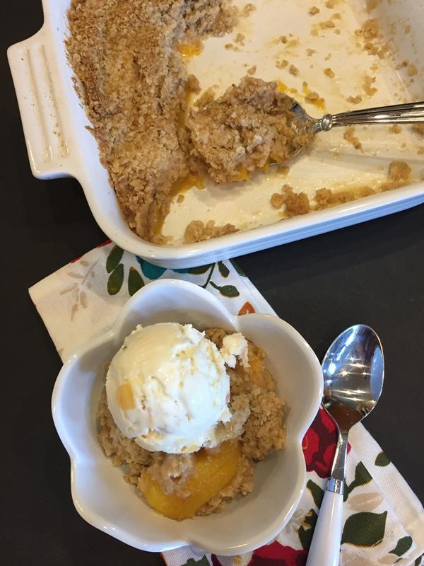 Gluten Free Peach Crisp Recipe