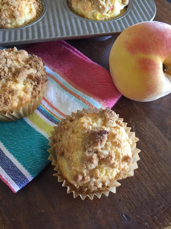 Gluten Free Peach Muffin Recipe