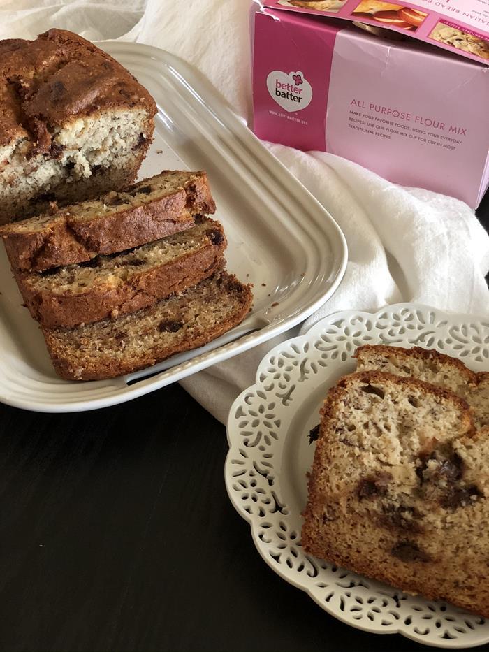Gluten Free Banana Bread with Better Batter Flour Blend