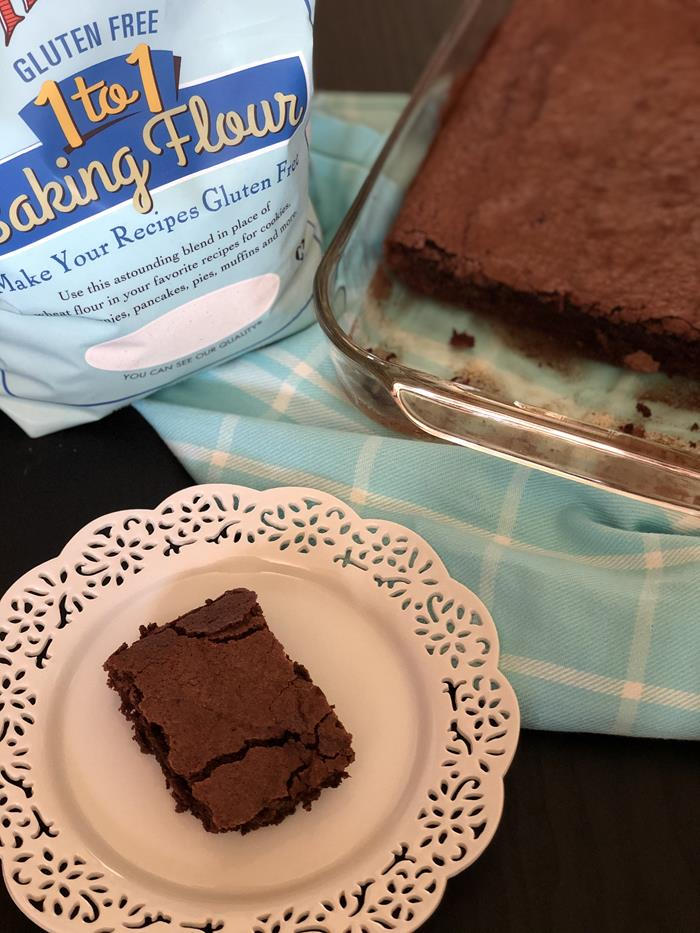 Gluten Free Brownies with Bob's Red Mill 1 to 1 Gluten Free Blend