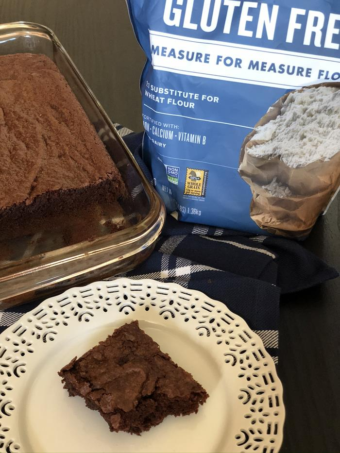Gluten Free Brownies with King Arthur Gluten Free Measure for Measure