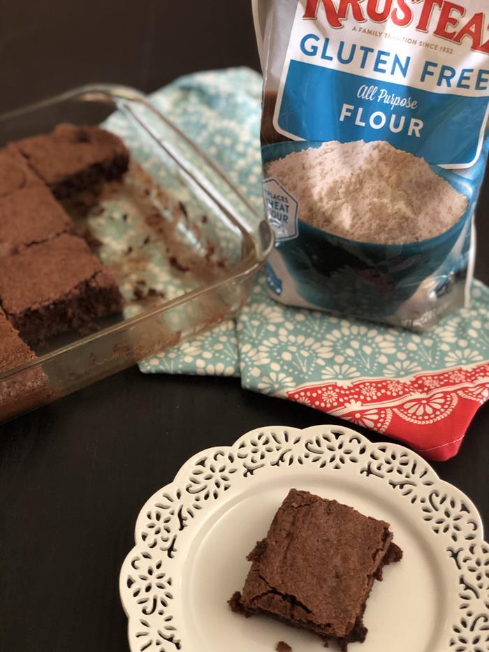 Gluten Free Brownies with Krusteaz