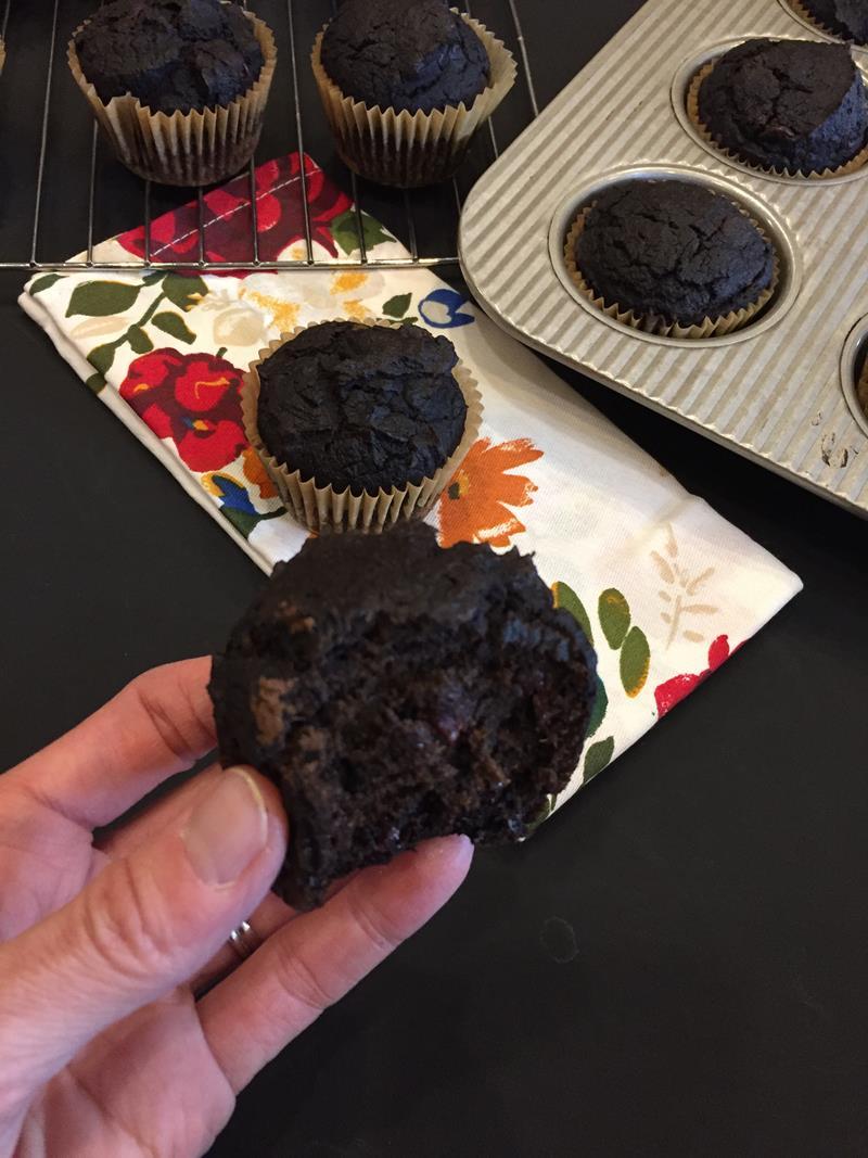 Gluten Free Chocolate Pumpkin Muffins