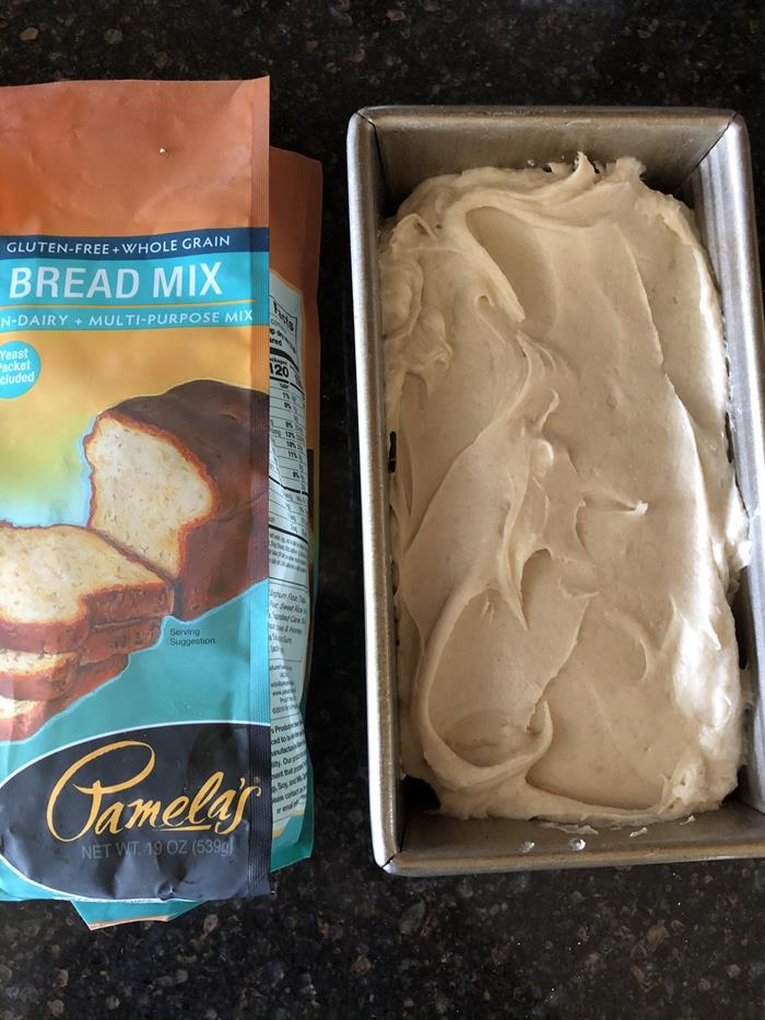 Pamela's Gluten Free Bread Mix Dough in Pan