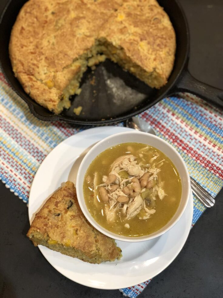 Gluten Free Mexican Cornbread Recipe and chili