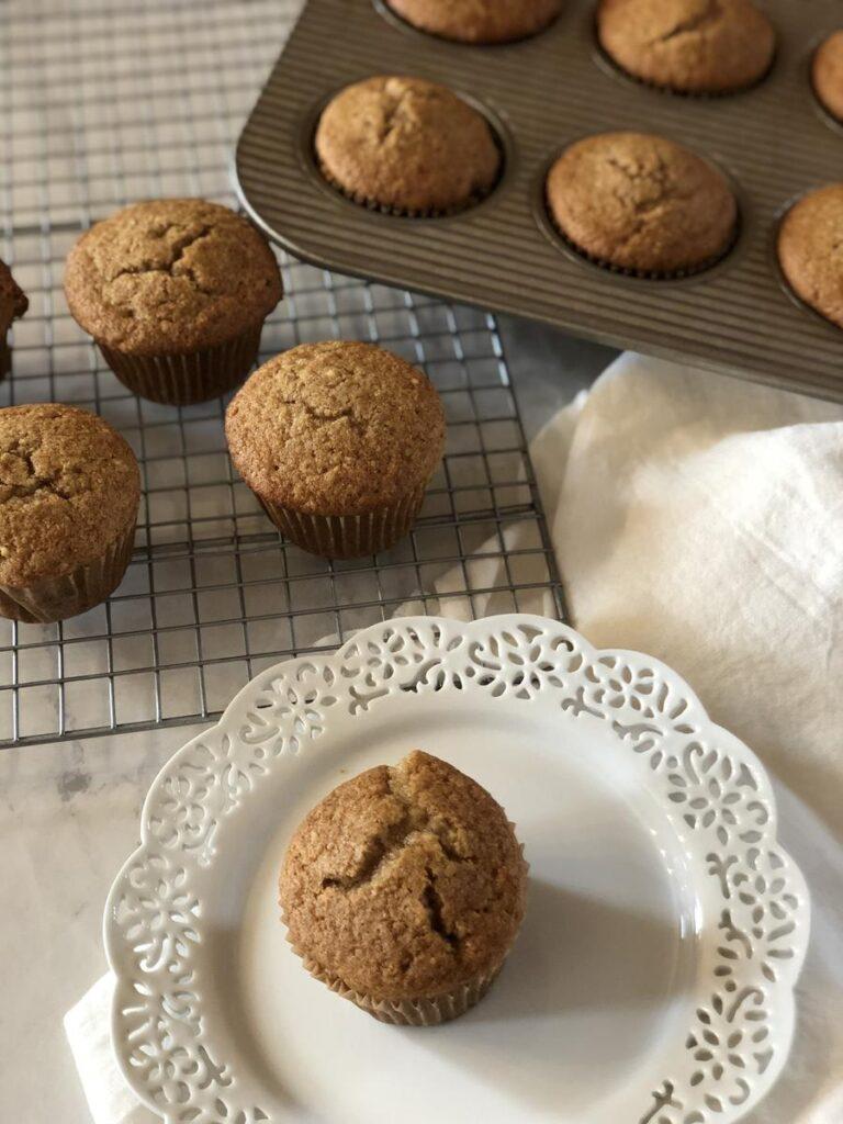 Gluten Free Applesauce Muffin on plate