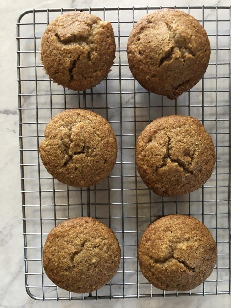 Gluten Free Applesauce Muffins Recipe on cooling rack