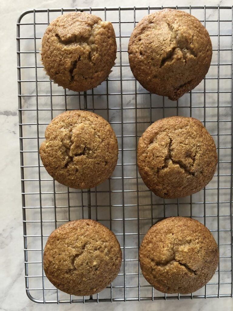 Gluten Free Applesauce Muffins Recipe on cooling rack